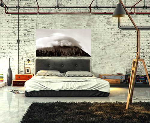 Cloud Mountain By Joe Hoover in Room Setting