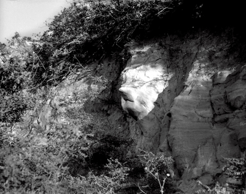 Rock Face of Sedona black and white photo by Joe Hoover