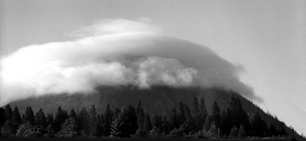 Cloud Mountain - Black & White Photograph by Joe Hoover