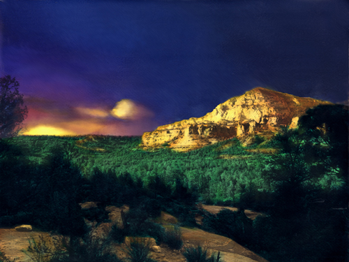 Sedona Sunset by Joe Hoover. Painted by Anni Adkins